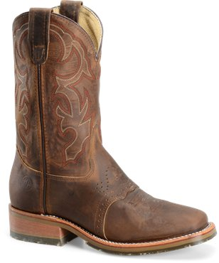 "Double H Mens 11"" Square Toe Ice Roper Western Boot"