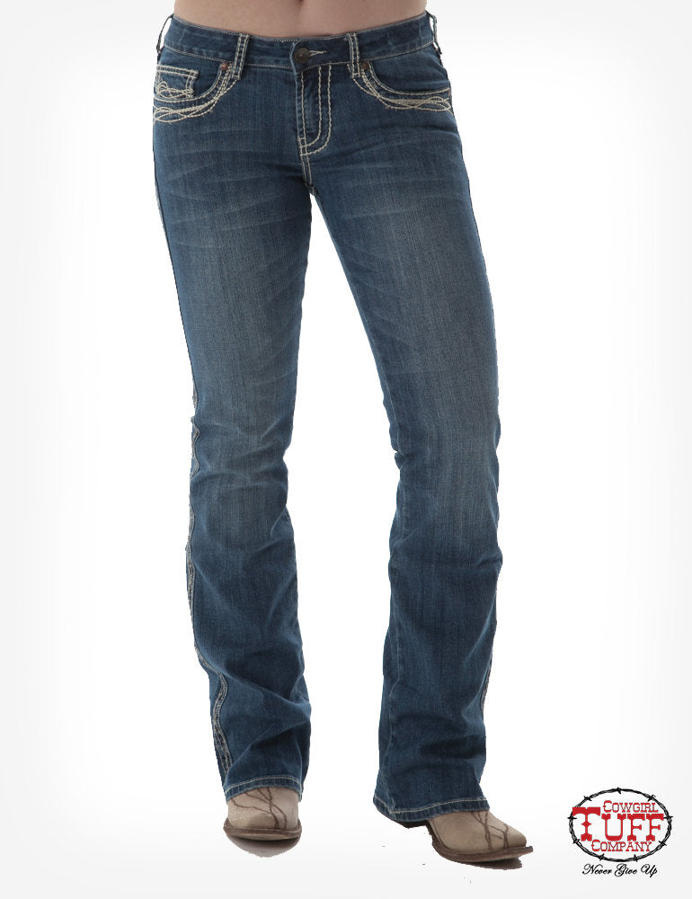 Cowgirl Tuff Women's Extreme Barbed Wire Jeans