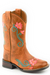Little Kid's Square Toe Floral Embroidery Western Boot