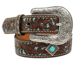 Ariat Girls Flower Overlay Diamond Concho Belt