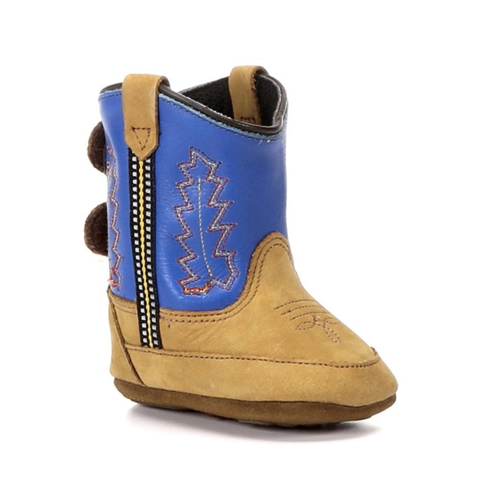Old West Infants Poppets Baby Boots - Electric Blue