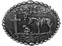 Nocona Cowboy Prayer Buckle