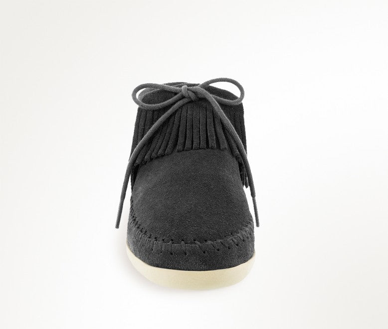 Minnetonka Women's Black Venice Moccasin