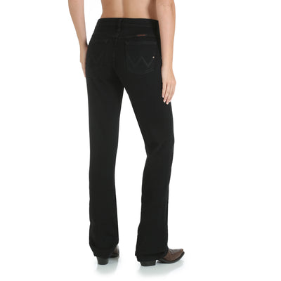 Wrangler Women's Black Denim Ultimate Q-Baby Riding Jean