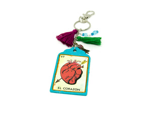 Corazon Keychain by Orquidia's Creations