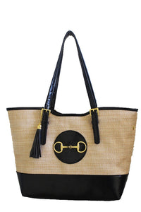 Straw Shopper Tote