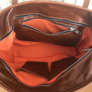 Italian Leather Cowhide Tote