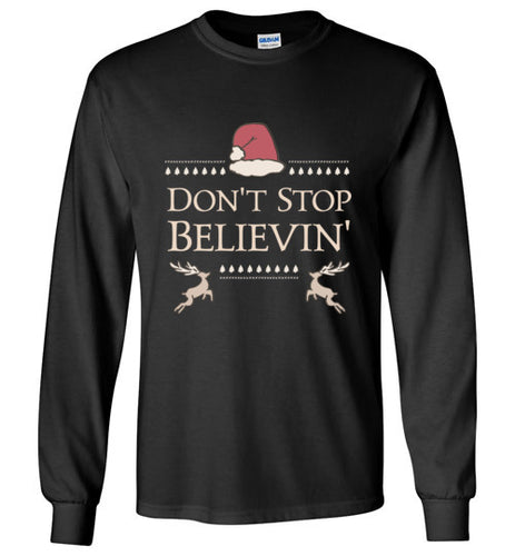Don't Stop Believin' - Kids Christmas Shirt