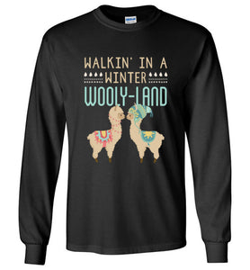 Walkin' In a Winter Wooly-Land - Kids Christmas Shirt