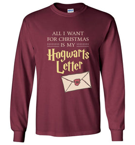All I Want for Christmas is My Hogwarts Letter - Harry Potter Christmas Kids Shirt
