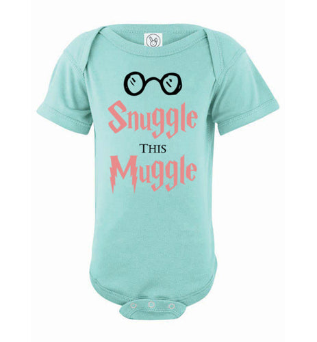 Snuggle This Muggle - Harry Potter Baby Onsie (Pink)