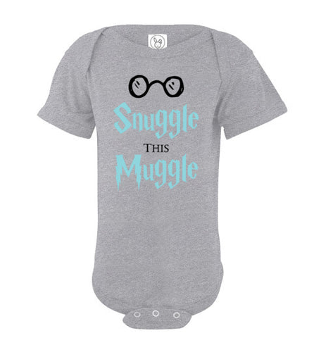 Snuggle This Muggle - Harry Potter Baby Onsie (Blue)