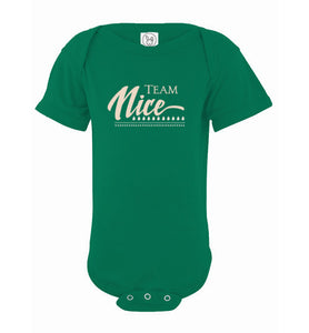 Team Nice - Christmas Baby Onsie
