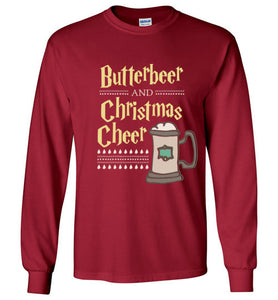 butterbeer and christmas cheer harry potter christmas shirt