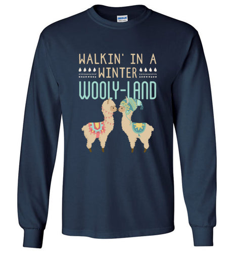 Walkin' In a Winter Wooly-Land - Christmas Shirt