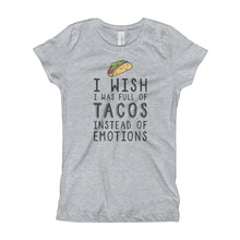 Tacos and Emotions - Girl's T-Shirt
