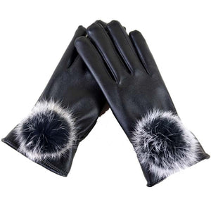 Touch Screen Fur Gloves