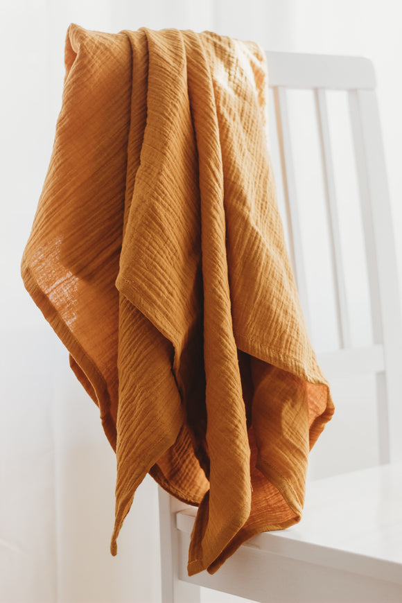 Simple Swaddle in Mustard