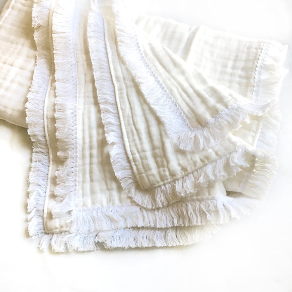 Six Layered Muslin Quilt | Fringe Trim