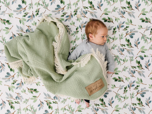 Fern Fringe Blanket - Optional Personalization