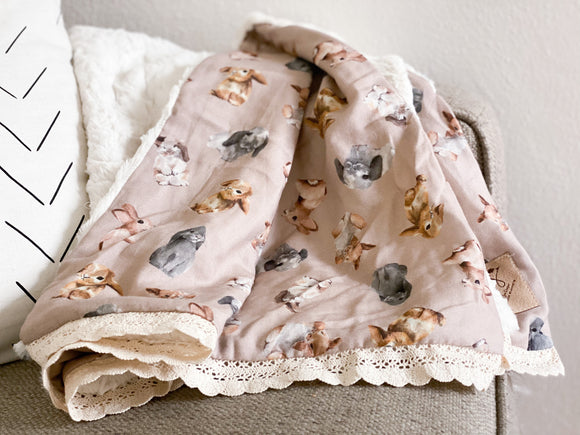 Cottontail Minky Blanket- Crib Size