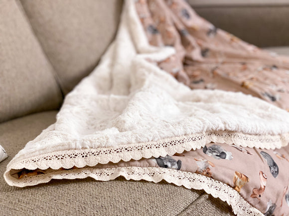 Cottontail Minky Blanket - Adult