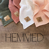 Hemmed Linen Waffle Blankets- Mini and Child Sizes