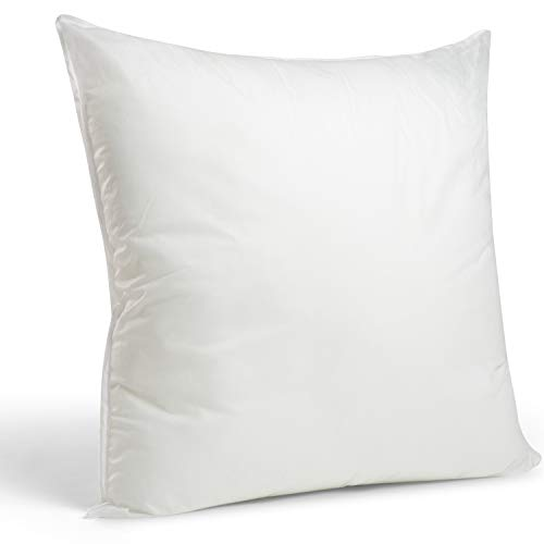 Faux Down Pillow Insert 20x20 inch (For 18 inch Pillow Cover)