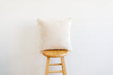Solid Minky Pillow Cover With Tassels - Wheat