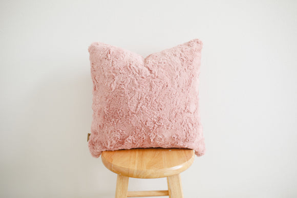 Luxe Minky Pillow Cover - Lush Rose