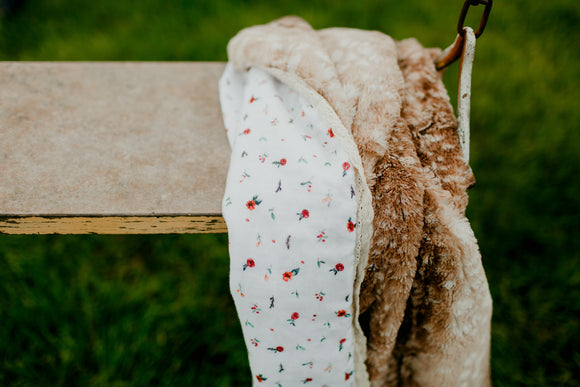 Classic Fawn Woodland Bloom Blanket