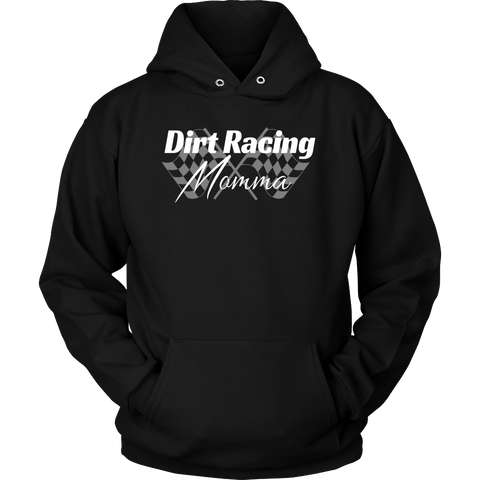 Dirt Racing Momma Hooded Sweatshirt - Turn Left T-Shirts Racewear