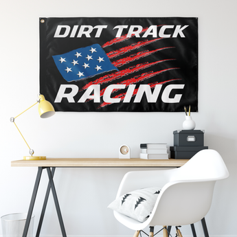 "USA Dirt Track Racing 36""x60"" Wall Flag - Turn Left T-Shirts Racewear"