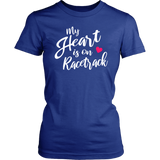 My Heart Is On The Racetrack T-Shirt - Turn Left T-Shirts Racewear
