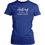 The Racetrack Is My Happy Place T-Shirts - Turn Left T-Shirts Racewear