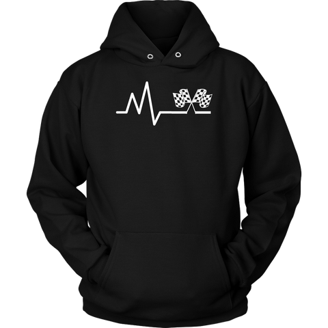 Lifeline Checkered Flag Hoodie - Turn Left T-Shirts Racewear