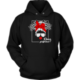 Messy Bun Racing Racers Girlfriend Hoodie