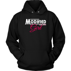 Modified Racing Girl Hoodie - Turn Left T-Shirts Racewear