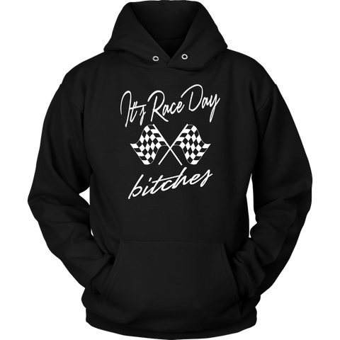 It's Raceday Bitches Racerback Hoodie - Turn Left T-Shirts Racewear