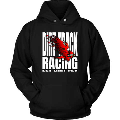 Let Dirt Fly Flaming Eagle Hoodie - Turn Left T-Shirts Racewear