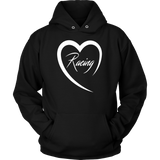 Racing Is Love Hoodie Sweatshirt - Turn Left T-Shirts Racewear