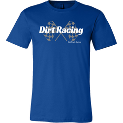 Dirt Racing Checkered Flag Men T-Shirt - Turn Left T-Shirts Racewear