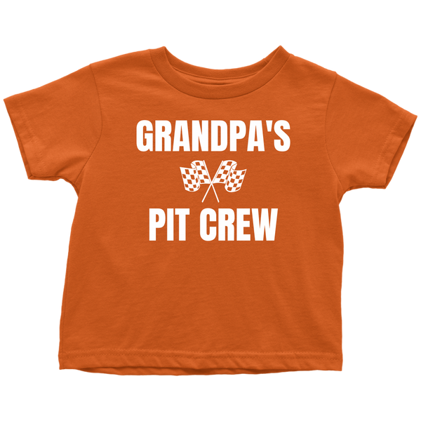 Grandpa's Pit Crew Toddler T-Shirt - Turn Left T-Shirts Racewear