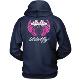 Let Dirt Fly Angle Wing Hoodie (Backside Design) - Turn Left T-Shirts Racewear
