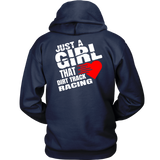Just A Girl That Loves Dirt Track Racing Hoodie - Turn Left T-Shirts Racewear