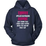 Coffee Spelled Backwards EEFFOC Hoodie  (PINK) - Turn Left T-Shirts Racewear