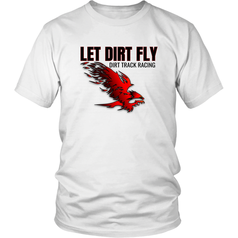 Let Dirt Fly Flaming Eagle Dirt Track Racing T-Shirt - Turn Left T-Shirts Racewear