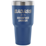 Badass Modified Driver 30 oz Travel Tumbler - Turn Left T-Shirts Racewear