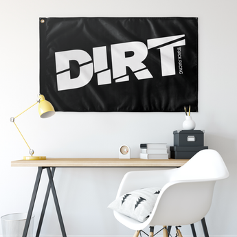 "DIRT Track Racing 36""x60 ""Wall Flag - Turn Left T-Shirts Racewear"