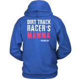 Dirt Track Racer's Mamma Hoodie - Turn Left T-Shirts Racewear